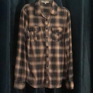 Size L Eden & Olivia long sleeve flannel blouse